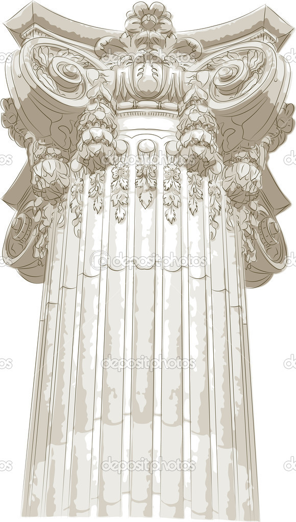 Classic column  Stock Vector #9598547