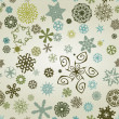 Seemless snowflakes background - Stock Photo