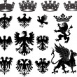 Heraldic set — Stock Photo