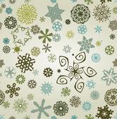 Seemless snowflakes background — Stock Photo