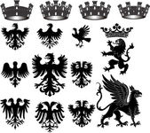Heraldische satz — Stockfoto