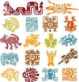 Conjunto - símbolos mexicanos — Foto Stock