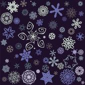 Sněhové vločky pozadí — Stock vektor