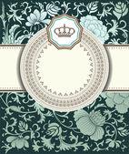 Barokke kaart — Stockvector