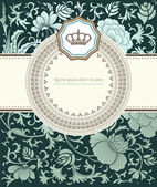 Baroque card — Stockvektor
