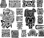 Set mexican symbols — Stock Vector