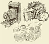 Caméras Vintage — Vecteur