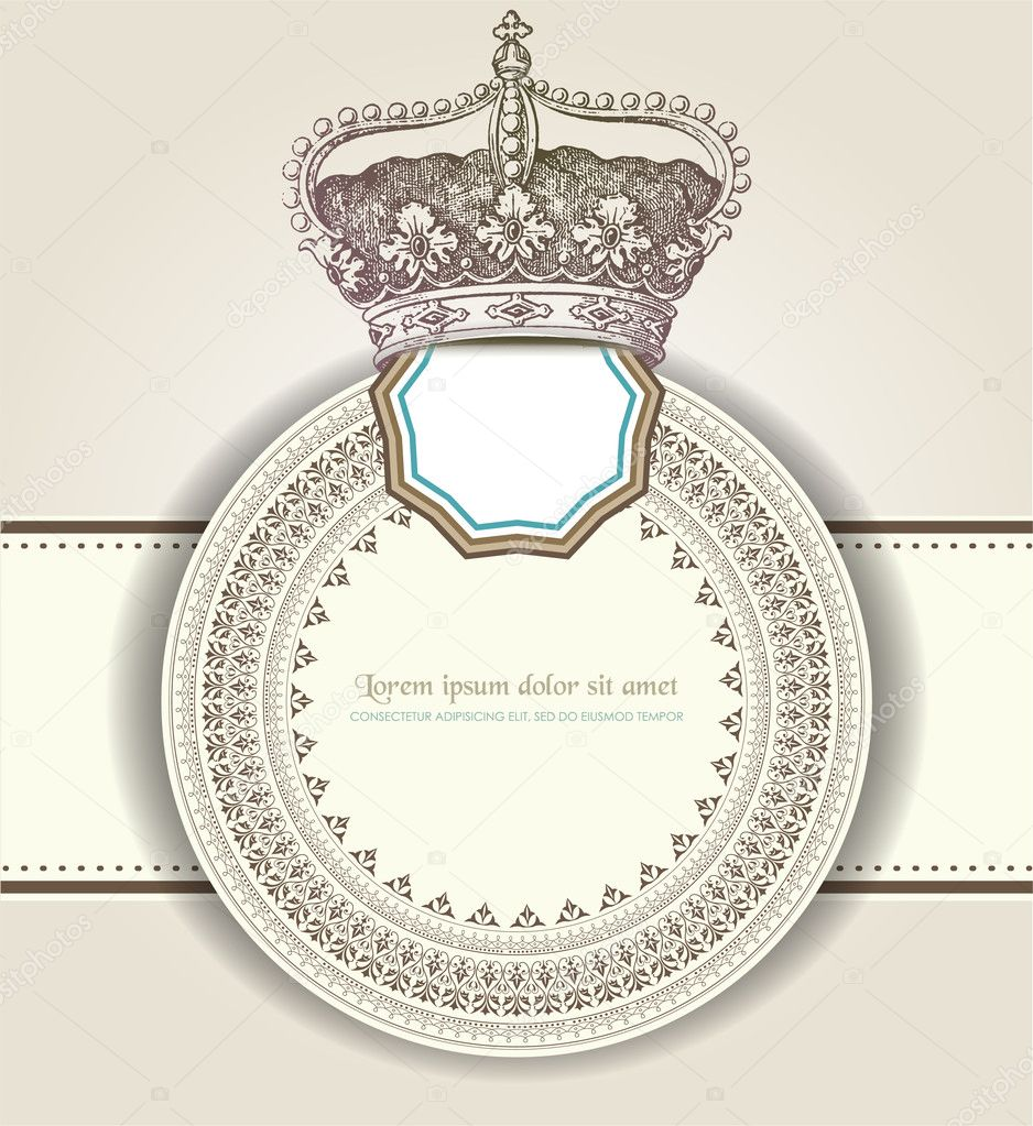 Vintage card   Stock Vector #9749084