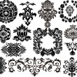 Stock Vector: Damask elements