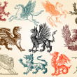Mythical animals — Imagen vectorial