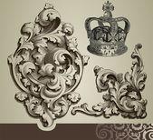 Baroque ornaments — Stock Vector