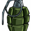 Stock Vector: Cartoon drawing of hand grenade