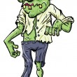 Cute green cartoon zombie. — Stock Vector