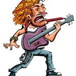 Cartoon of a heavy metal singer — Stock Vector #8033044