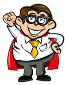 Cartoon Superhero office nerd — Stock vektor