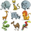 Set of cartoon wild animals — Stock Vector #8055054