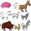 Cartoon set of farm animals — Stock Vector #8055095