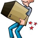 Cartoon man hurting his back — Stock Vector #8131076