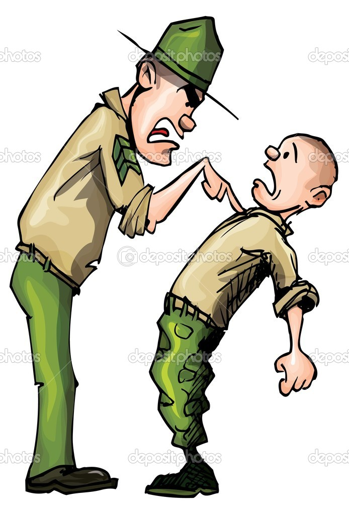 how to break a drill sergeant