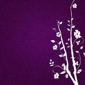 Prázdninové pohlednice s bílými květy — Stock fotografie