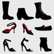 Women and men shoes - vector — Stockvektor #10042325