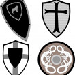 Stock Vector: Medieval shielded - vector