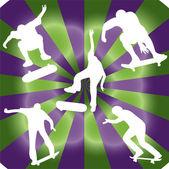 Silhouette of skater - vector — Stock Vector
