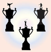 Collection of trophies 1 - vector — Stock Vector