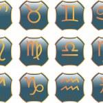 Zodiac buttons - vector — Stock Vector