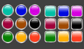 Glossy buttons - vector — Stock Vector