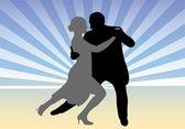 Dancing couple - vector — Stock Vector
