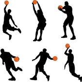 Basketball players - vector — Stock Vector