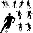 Soccer players - vector — Stock Vector #9686230
