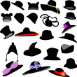 Hats collection - vector - Stock Vector