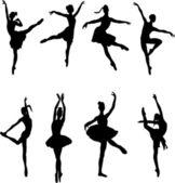 Ballet dancers - vector — Stock Vector