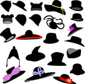 Hats collection - vector — Stock Vector