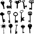Keys collection - vector — Vector de stock #9698839
