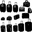 Bags collection - vector — Stock Vector