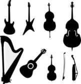 Musical instruments - vector — Stock Vector