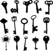 Keys collection - vector — Stock Vector