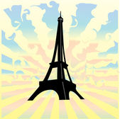 Eiffel tower - vector — Stock Vector