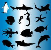 Sea world - vector — Stock Vector