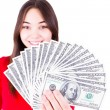 Money In Teenager Hands — Stock Photo