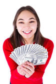 Teenager Thrilled With Money — Stock Photo