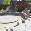 Paving Patio — Stock Photo #9955325