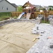 Paving the Patio — Stock Photo