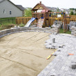 Paving the Patio - Stock Photo