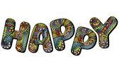 """HAPPY"" — Stock Vector"