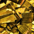 Pyrite, fool's gold - Stock Photo