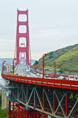 Golden Gate Bridge Traffic — Stock Photo
